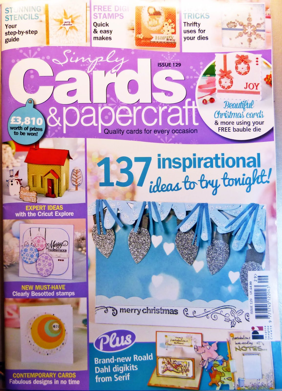 Published Simply Cards & Papercrafts Issue 129
