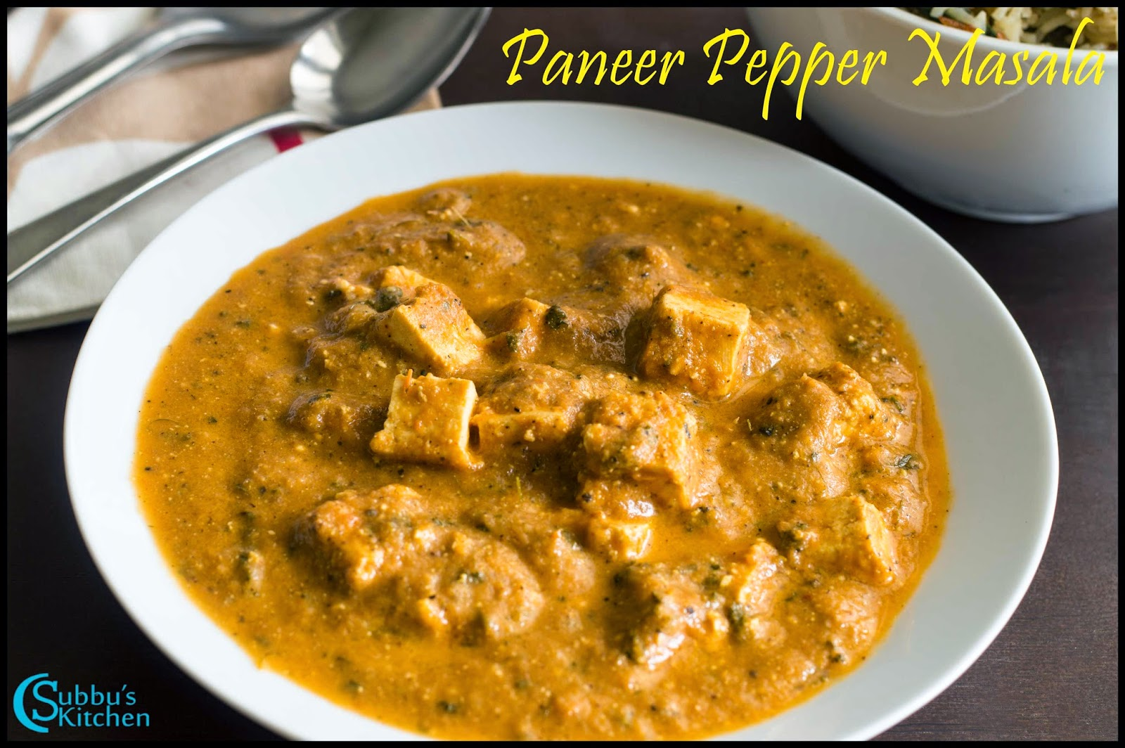 Paneer Pepper Masala Recipe | Cottage Cheese in Pepper Gravy Recipe ...