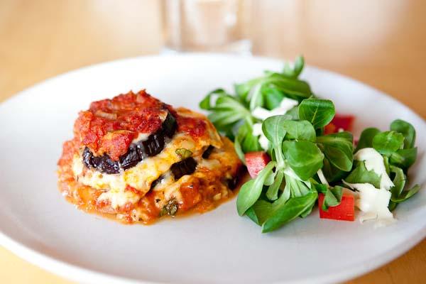 aubergine lasagne utan pasta