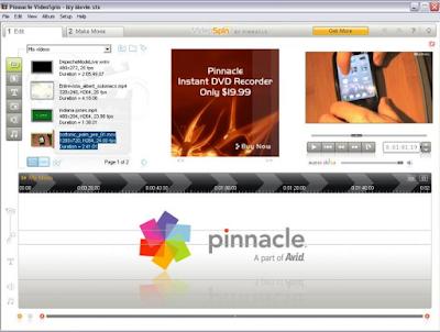 software edit film gratis Pinnacle VideoSpin