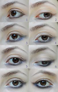 purple,smokey, bottom lid trend makeup