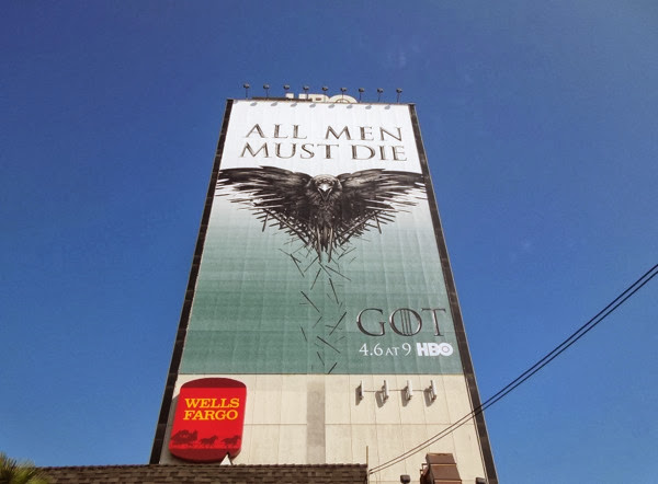 Giant All men must die crow teaser billboard