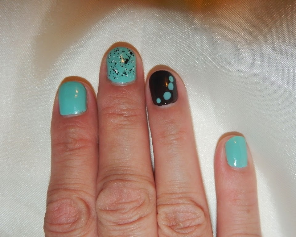 For Audrey,  Cult Nails Fetish, ColorShow Clearly Spotted! kinetic splatter it!