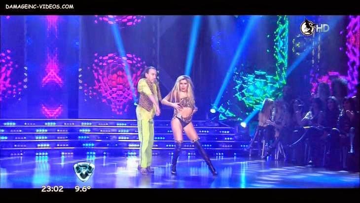 Laura Fernandez black thong upskirt