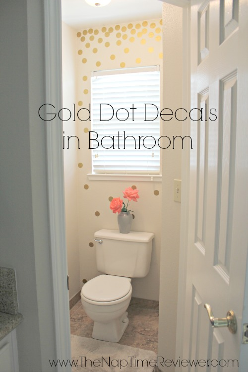 Update A Small Bathroom With Gold Dot Wall Decals The Naptime Reviewer