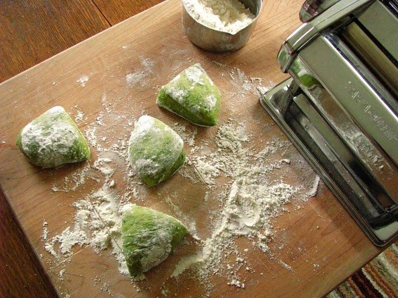 how to make green pasta dough