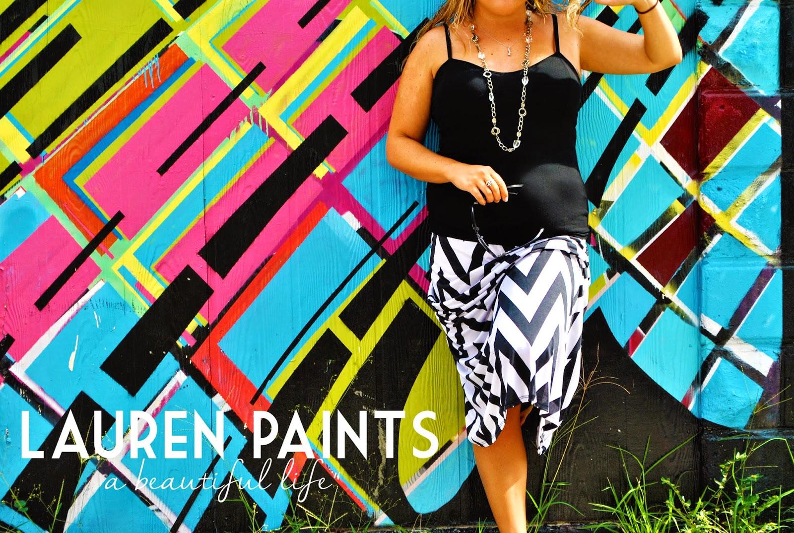 Downtown St Petersburg Florida and a chevron maxi skirt