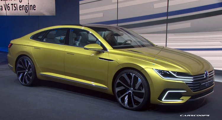 New VW Sport Coupe Concept GTE Slots Between Passat and Phaeton