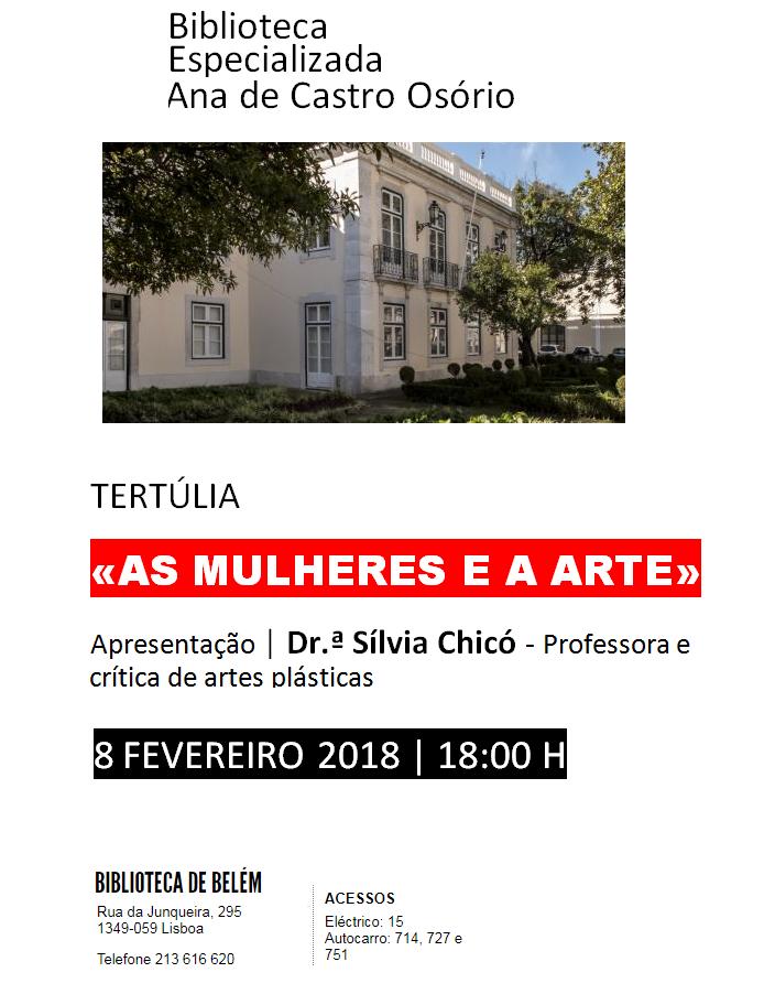 TERTÚLIA | «AS MULHERES E A ARTE» | 8FEV2018