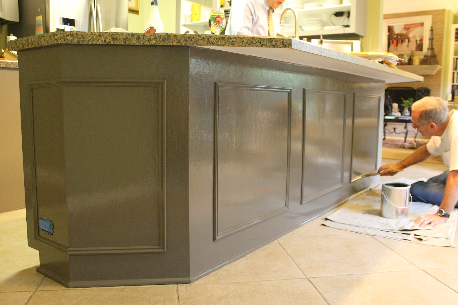 the cabinets look very shiny The cabinets were painted with oil based