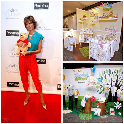 Lisa Rinna with Winnie the Pooh at PLUSH 2013  Photo Credit: Raul Roa/Disney