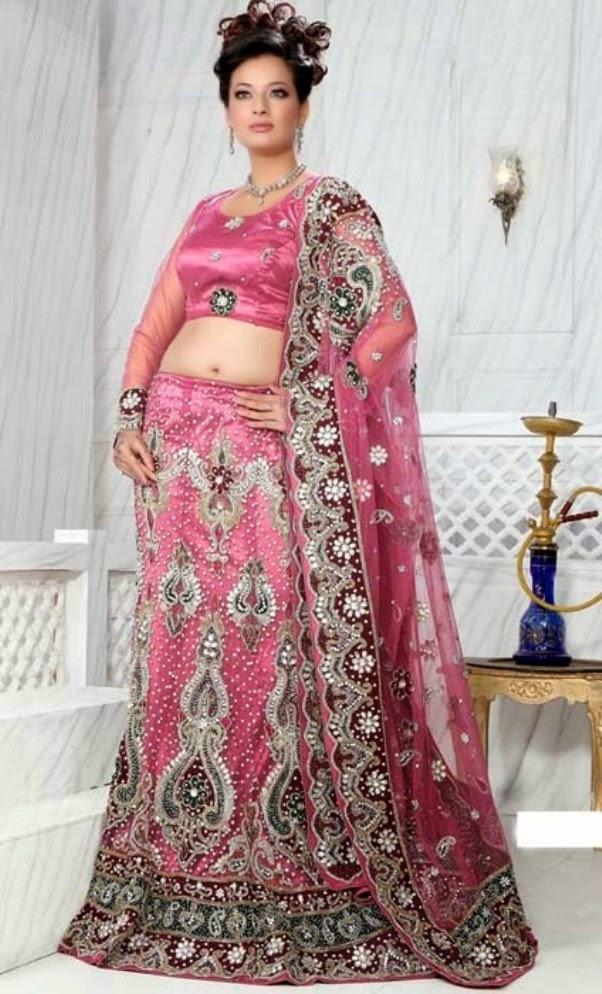 lehenga choli dresses 2014 for young girls and women