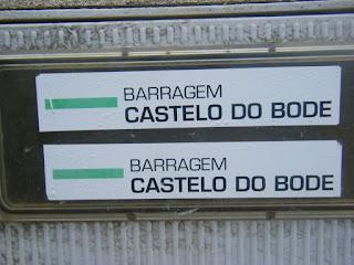 Sinalização Barragem castelo bode