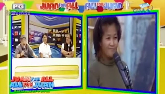 The woman from Baguio who won as the Question of the Day.