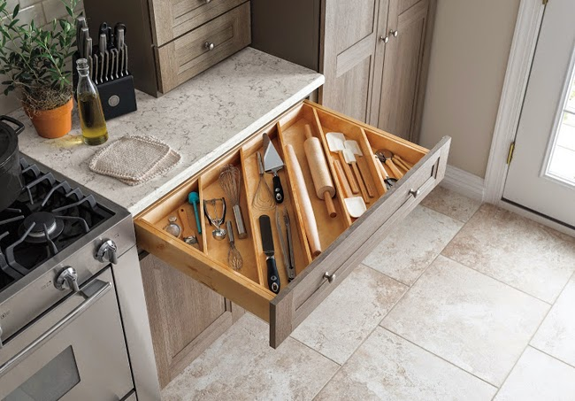 Martha Stewart Living Kitchens At The Home Depot Offer A Variety Of Smart  Storage Features, Including This Diagonal Utensil Organizer That Helps  Maximize ...