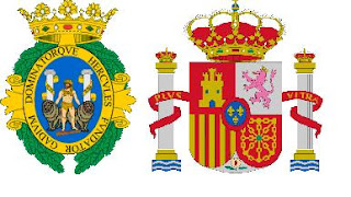 columnas Hércules, Cádiz y escudo España