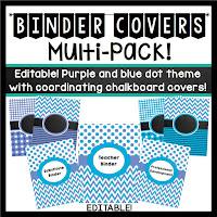 https://www.teacherspayteachers.com/Product/Binder-Covers-Editable-Periwinkle-and-Blue-Dots-Chevron-Theme-736629