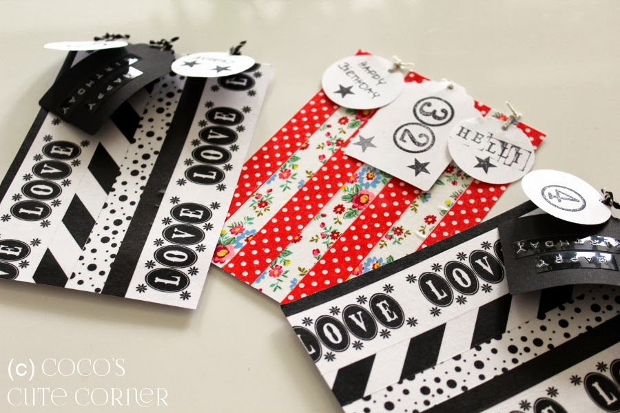 Birthday Cards with Masking Tape