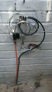 outdoor disconnected cable tv splitter