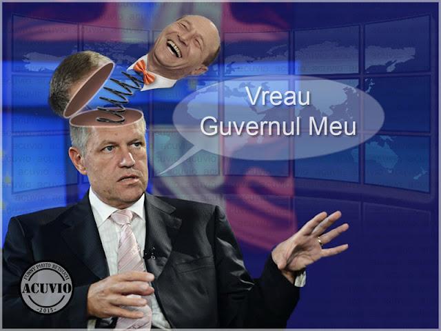 Klaus Iohannis funny photo Vreau Guvernul Meu