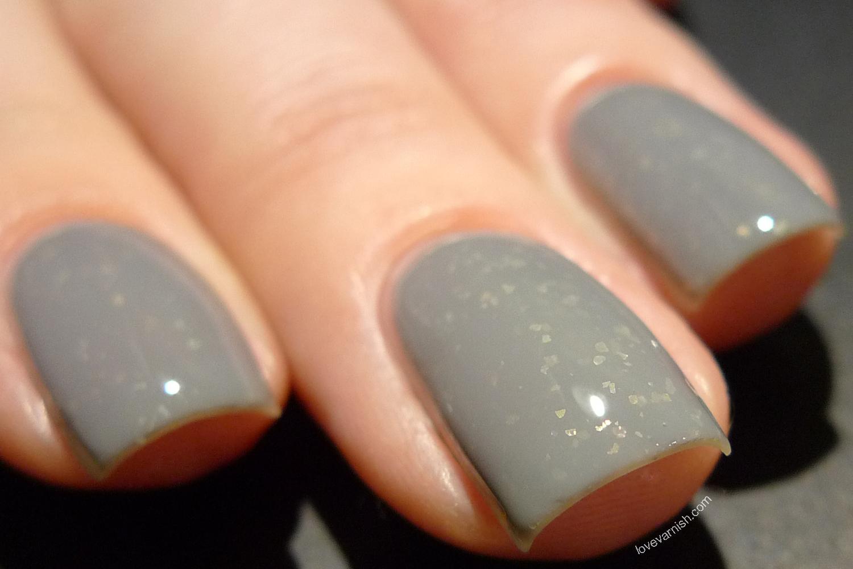 Dance Legend Mist Way Albion grey flakie nail polish