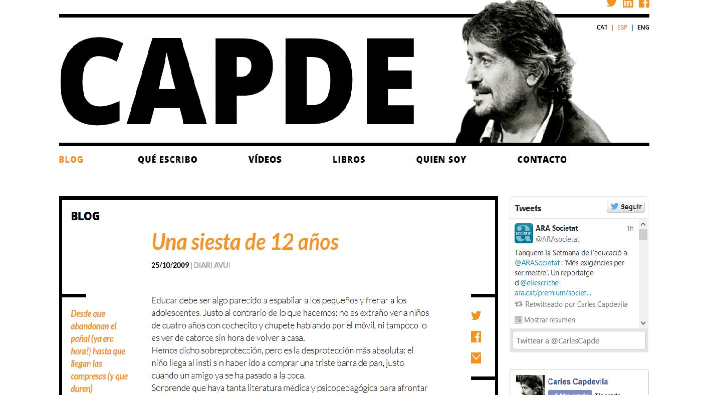 http://www.carlescapdevila.com/es/una-migdiada-de-12-anys/