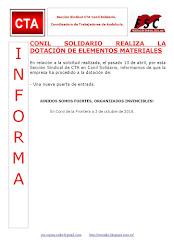 CONIL SOLIDARIO REALIZA LA DOTACIÓN DE ELEMENTOS MATERIALES