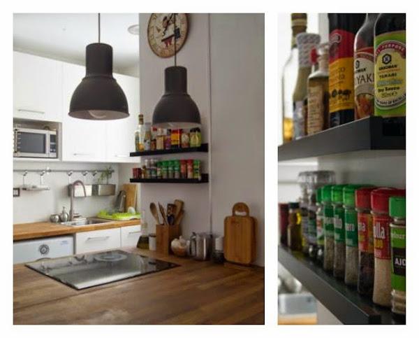 Hacer bricolaje - Como hacer estantes de cocina ...