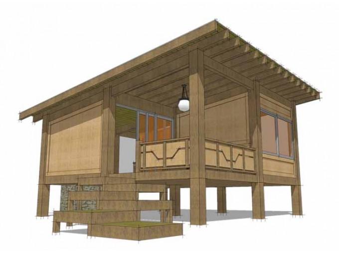 Plano de casa estilo oriental de 42 metros cuadrados for Casas minecraft planos