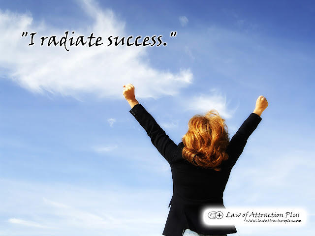 Free Law of Attraction Wallpaper with Decree and Positive Affirmation about Success