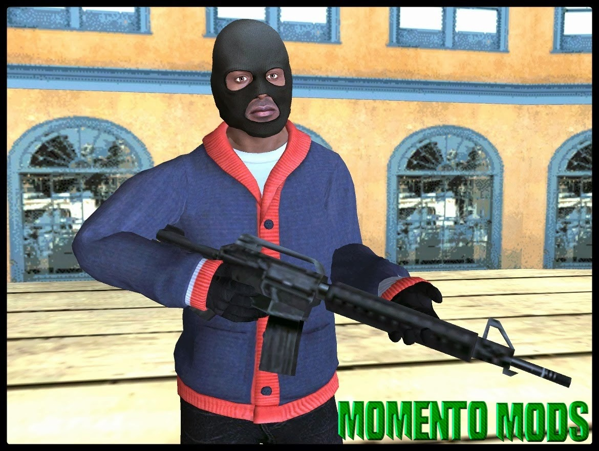 GTA SA - Skin Do Franklin GTA V V4