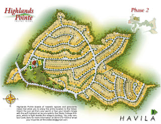 Highlands Pointe Taytay at Havila Site Development Map
