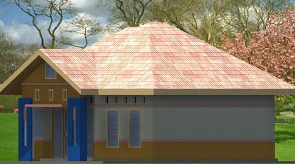 gambar rumah minimalis atap limas rumah type 54