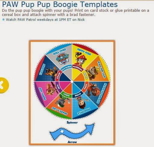 Juego de Ruleta de Paw Patrol o Patrulla Canina para Bailar el Boogie.