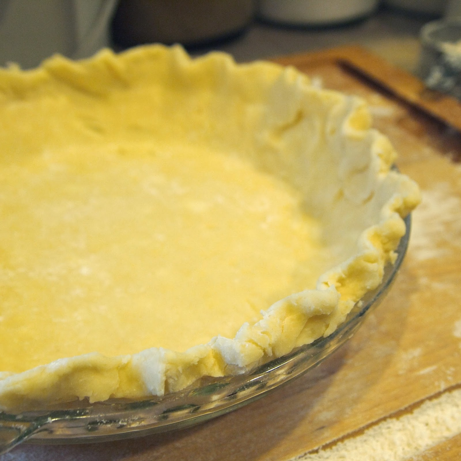 If you are using my pie crust recipe you need to keep the edges inside ...