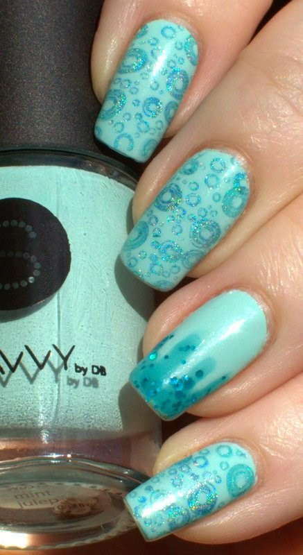 Savvy Mint Julep with Hits Hera and Color Clue Blue Haven