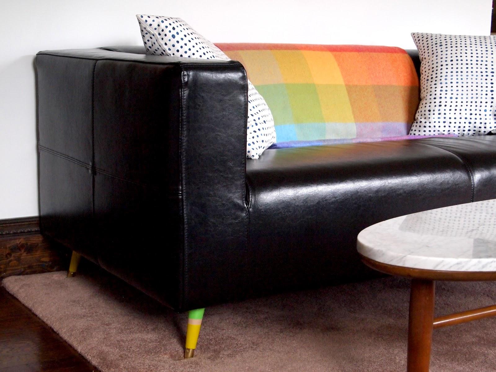 cozy little cave colorful klippan legs screw mount sofa legs