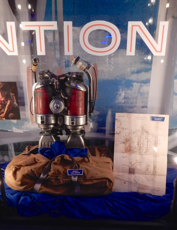 Tomorrowland 1964 jetpack and blueprint movie props