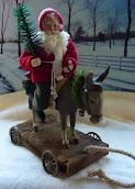 SOLD - Santa Riding Donkey