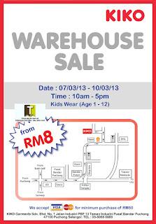 KIKO Warehouse Sale 2013