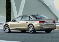 Audi A8 L rear view  HD Wallpaper