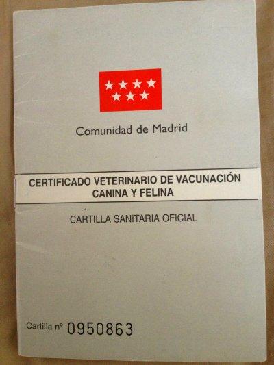 Certificado de Vacunación o cartilla de vacunas