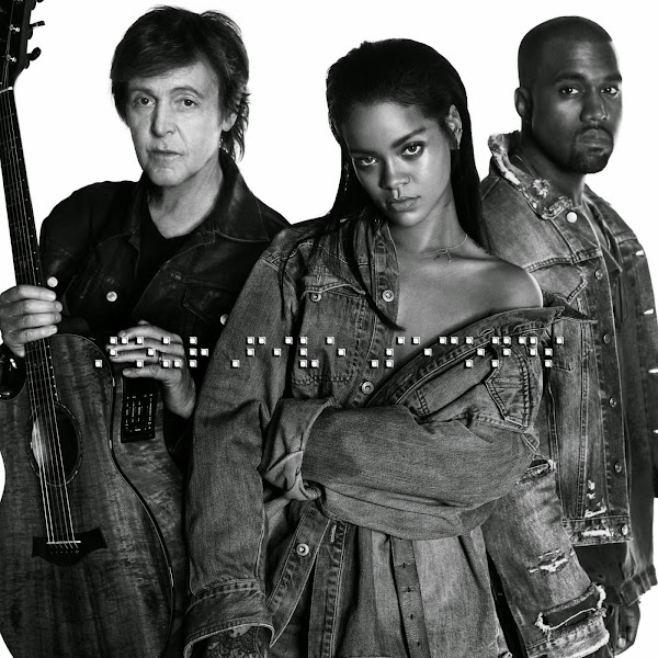Rihanna and Kanye West and Paul McCartney - FourFiveSeconds - Single Cover