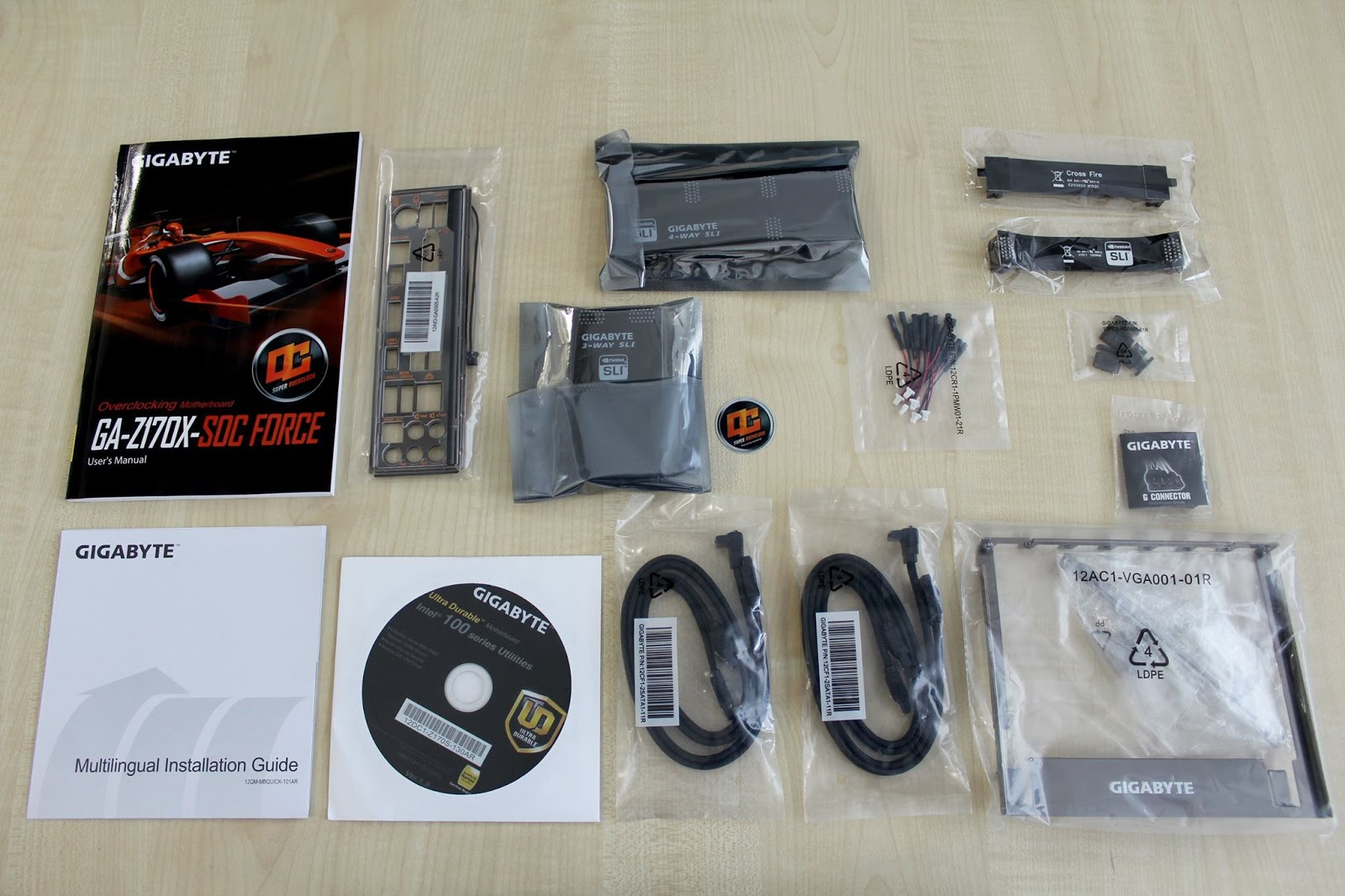 Gigabyte Ga Z170x Soc Force Lga 1151 Motherboard Review And Gaming G1 Socket Open The Box You Are Greeted By A Plethora Of Accessories Packed In Same Fashion As Im Fan Loaded Boards