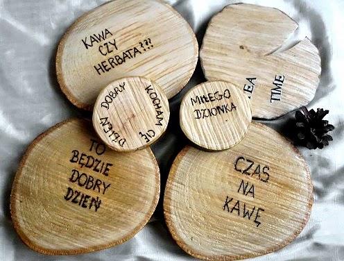 Podkładki z drewna