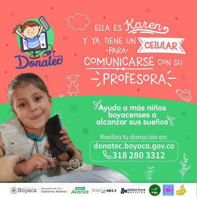 Niños de seis provincias de Boyacá ya han sido beneficiadas con dispositivos móviles y computadores