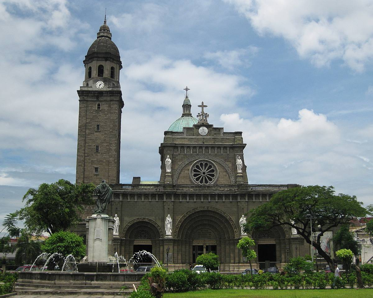 First was the Manila Metropolitan Cathedral-Basilica or the Manila