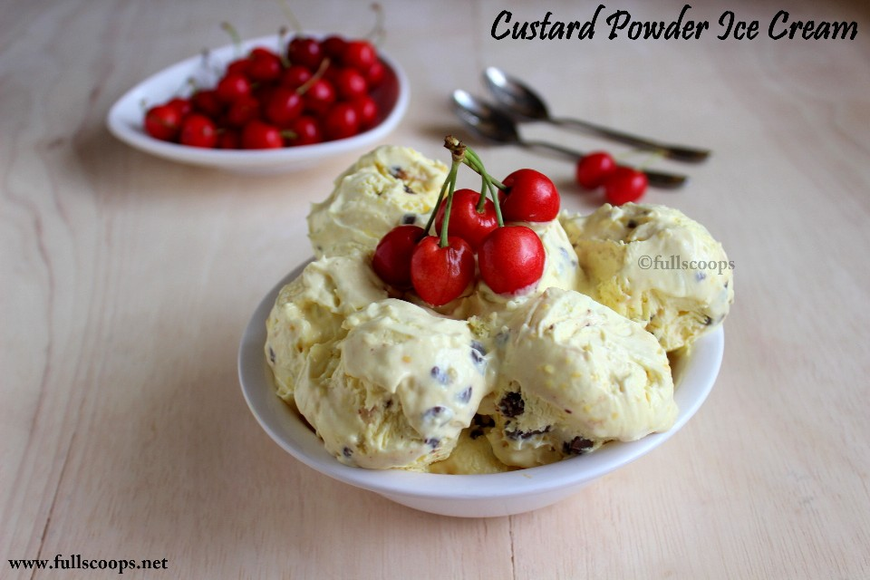 Custard powder ice cream easy homemade ice cream full scoops a custard powder ice cream easy homemade ice cream ccuart Image collections