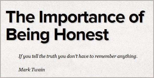 importance of honesty