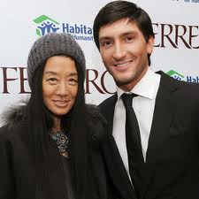 Vera  63years old  dated with the 27 years old Olympic Champion  Evan    Vera Wang Evan Lysacek